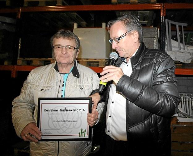 """Sidste år vandt Grethe Kold Christensen prisen """"Den store håndsrækning"""". Hun fik den for at etablere et mødested for psykisk sårbare. Hvem får prisen i år? Foto: Jørgen Ingvardsen"""