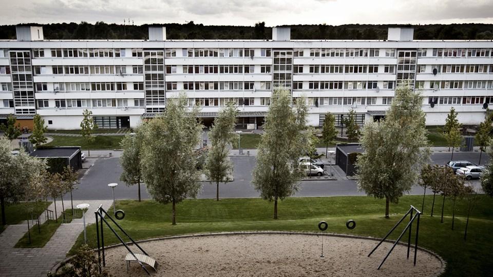 Boligområdet Vollsmose i Odense skal i fremtiden se meget anderledes ud. Det er målet i en ny plan, som et enigt byråd i Odense Kommune er blevet enige om. Foto: Malte Kristiansen/arkiv/Ritzau Scanpix