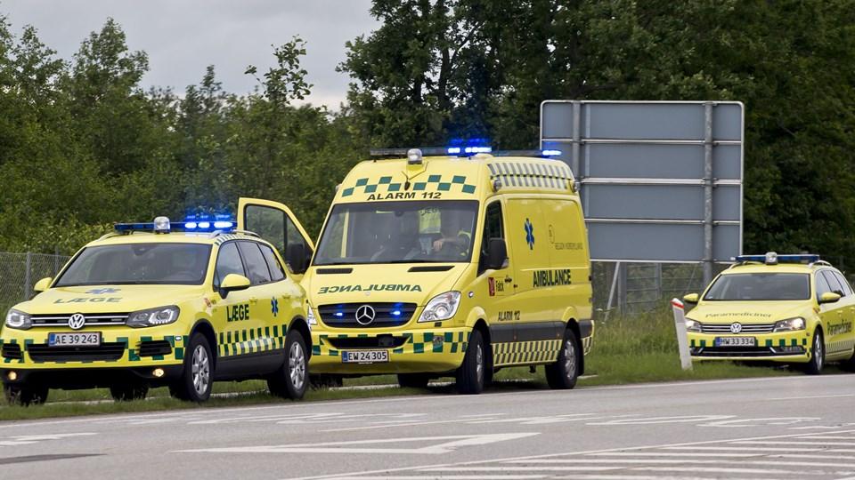 Regionens opgave bliver at drive kørslen med lægebiler, paramedicinerbiler og akutbiler. Den normale ambulancekørsel skal stadig udføres af Falck, der har kontrakt indtil 2022. Arkivfoto: Martin Damgård