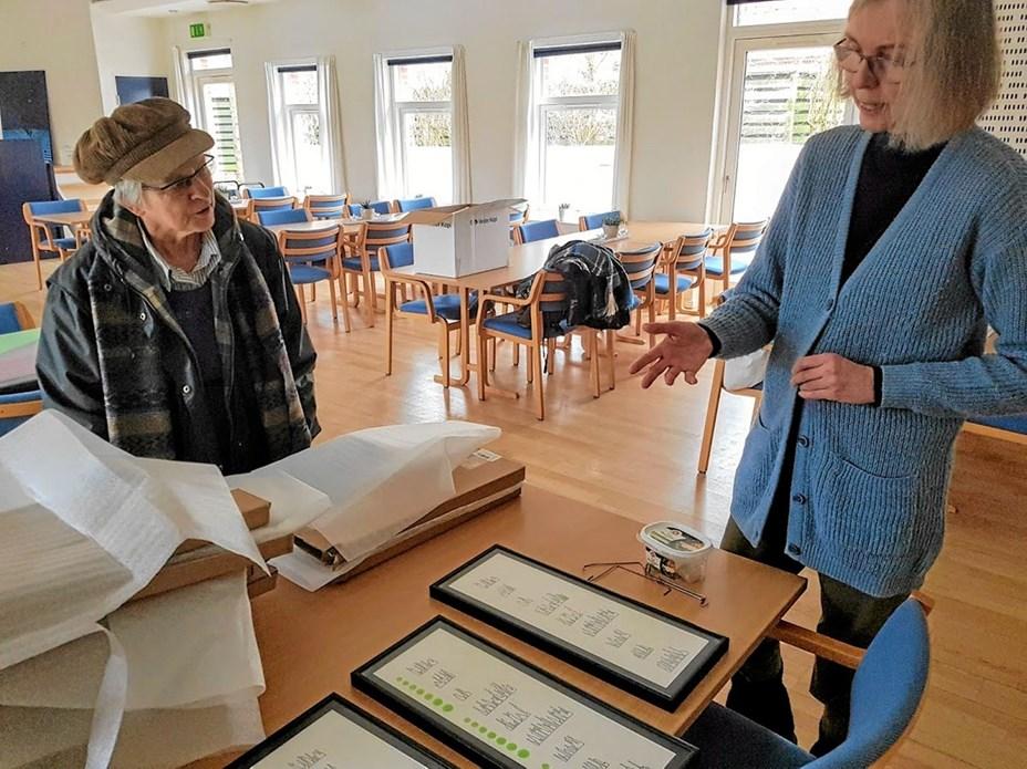 Kunstner fra Godthåb udstiller i Svenstrup Sognegård