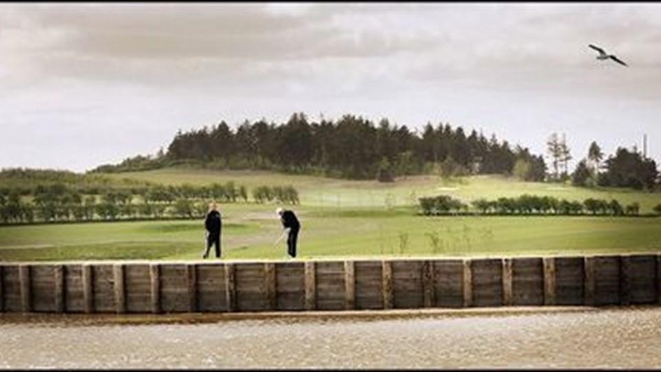 Den nye golfbane ligger i fantastiske omgivelser. foto: jens morten