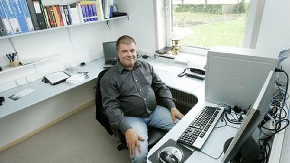IT/ledelsesstrateg Johnny Madsen fra Nanok Consulting er spændt på at afprøve det nordjyske marked. Foto: Per Kolind