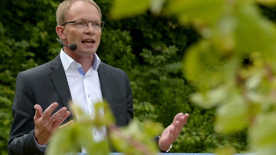 Niels Jørgen Pedersen - udfordrer nu borgmester Lene Kjelgaard Jensen som Venstres spidskandidat - og dermed som partiets bud på en ny borgmester for Thisted Kommune. Arkivfoto: Peter Mørk