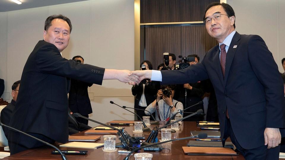 Et vellykket møde mellem topfolk fra Nord- og Sydkorea er endt med aftaler om nye møder. Foto: Handout/Reuters
