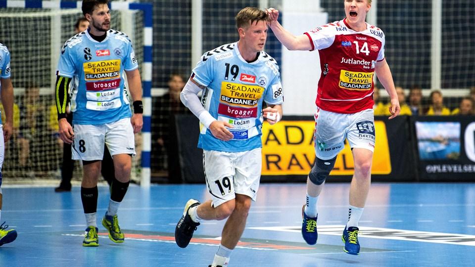 Magnus Saugstrup glæder sig til at få drengedrømmen opfydlt. Først skal han med klubben til Aarhus. Arkivfoto: Laura Guldhammer