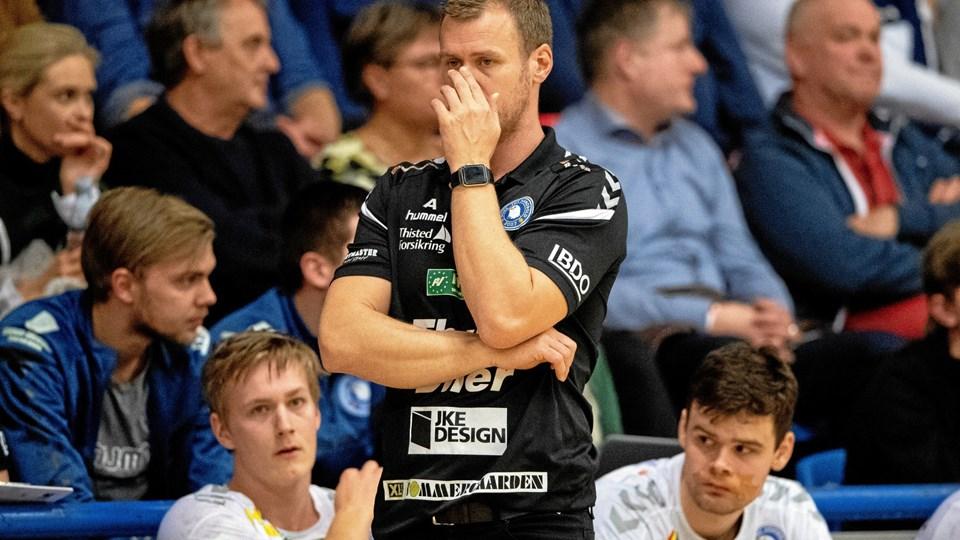 Søren Hansen måtte erkende, at Mors-Thy fredag aften var oppe imod en langt bedre modstander. Arkivfoto: Henrik Bo