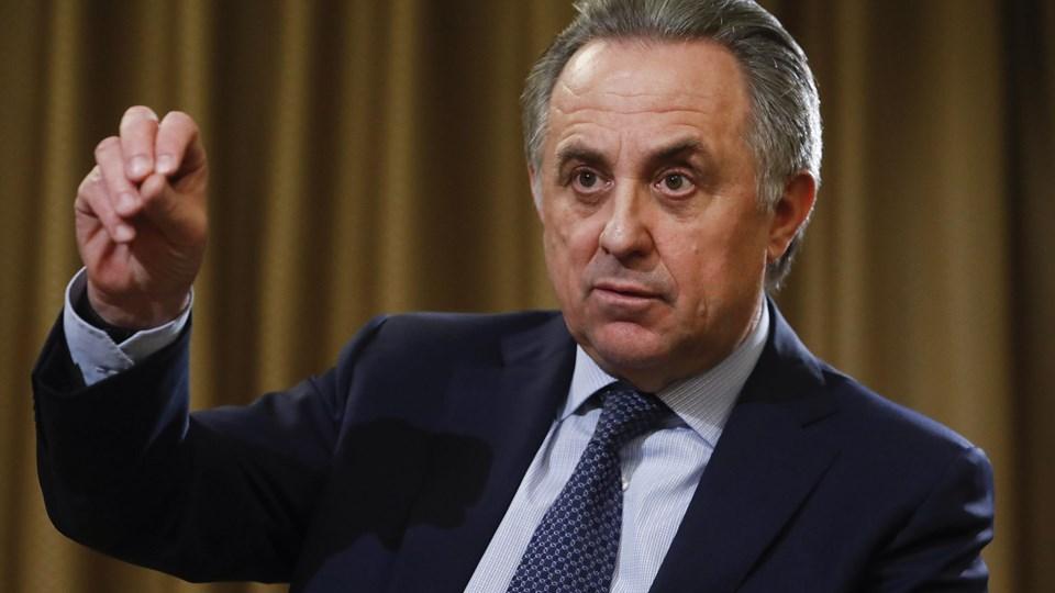 Russeren Vitaly Mutko var til stede ved et møde i Fifa onsdag.