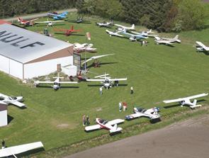 Åbent hus hos flyveklubben