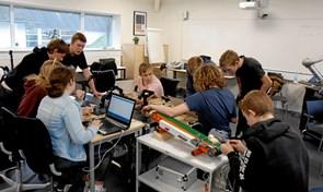 Elever lærte om robotter