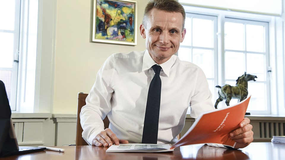 Nordjyske Bank er hovedsponsor i Frederikshavn White Hawks, og bankens direktør, Claus Andersen, har fuld tillid til, at White Hawks behandler sagen med Kristian Jensen professionelt. Arkivfoto: Bent Bach