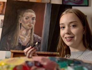 Den unge portrætmaler fra Manna