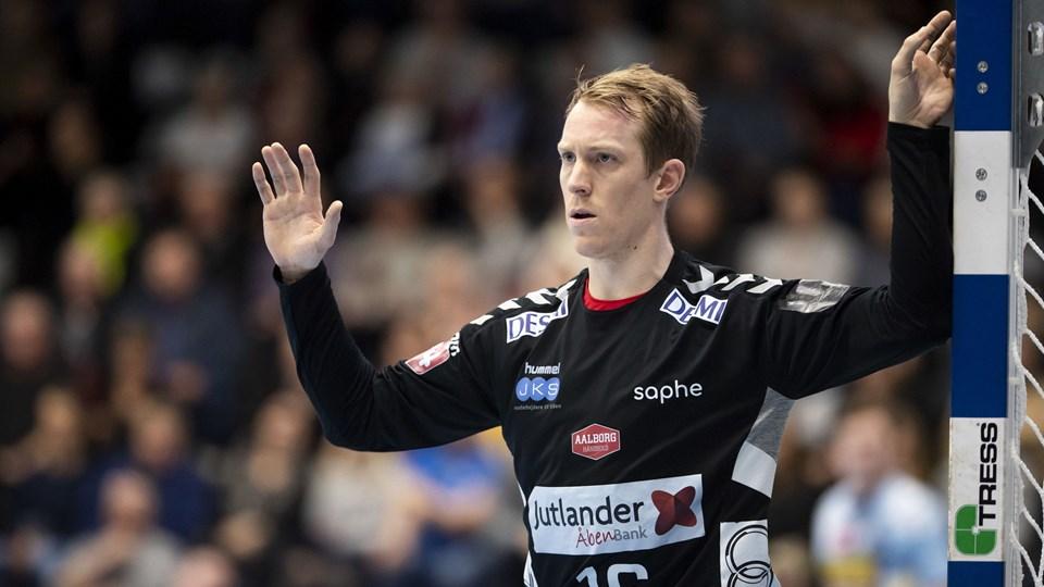 Mikael Aggefors bliver i Aalborg Håndbold i endnu tre sæsoner. Arkivfoto: Frank Cilius/Ritzau Scanpix