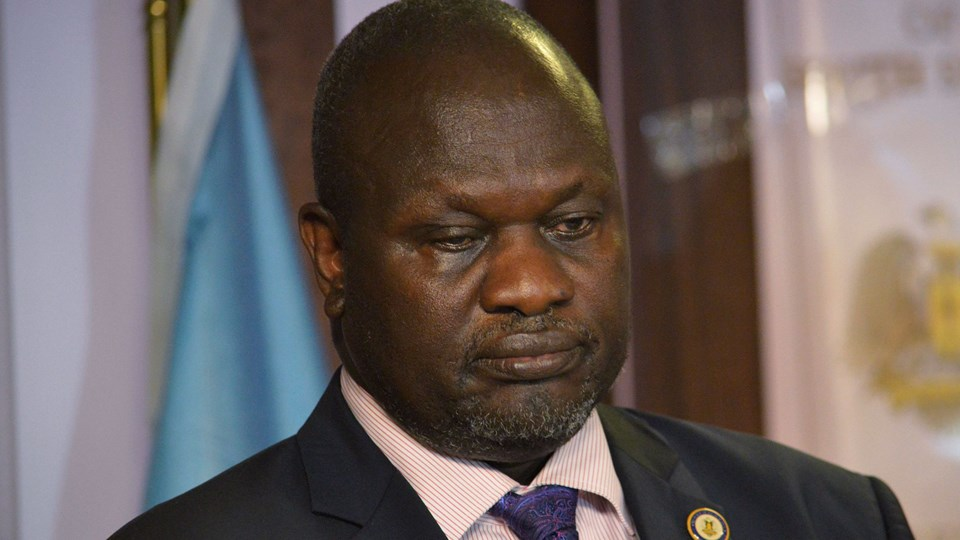 South Sudan First Vice President Machar attends a news conference at the Presidential State House following renewed fighting in South Sudan's capital Juba Foto: Reuters/Stringer