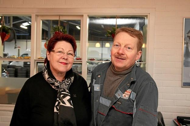 Inger og Poul Erik Jensen supplerer hinanden på jobbet.  Foto: Flemming Dahl Jensen Flemming Dahl Jensen