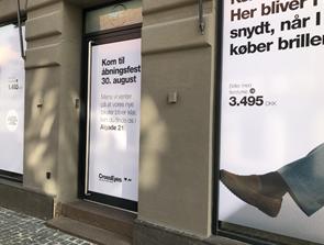 Flyttedag: Optiker skifter adresse i midtbyen