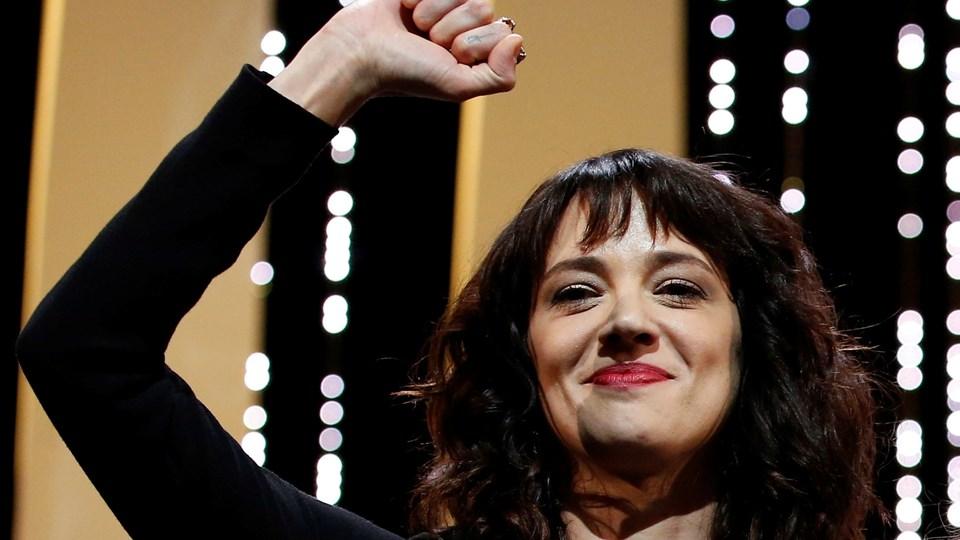 Asia Argento er en af MeToo-bevægelsens frontkvinder. Hun har blandt andet gjort sig bemærket i en opsigtsvækkende tale ved Cannes-festivalen, hvor hun fortalte, at hun var blevet voldtaget af Harvey Weinstein. Foto: Stephane Mahe/arkiv/Reuters