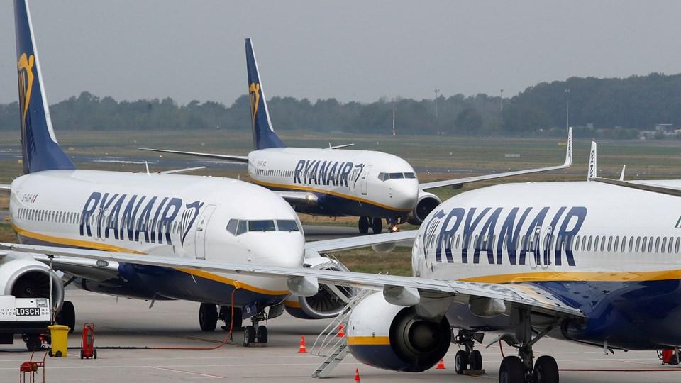 Seks ansatte er blevet fyret for falsk sovebillede hos Ryanair. (Arkiv)
