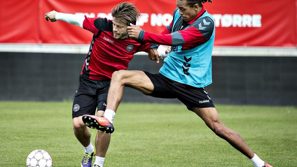 A-landsholdet træner torsdag i Horsens Foto: Scanpix/Henning Bagger
