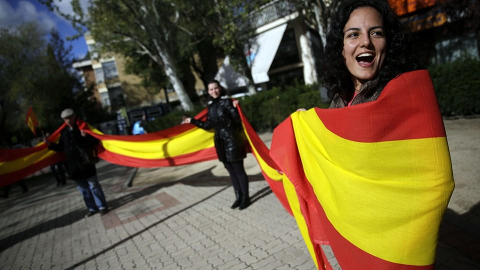 Otte ud af 10 cataloniere har stemt ja til løsrivelse fra Spanien ved symbolsk folkeafstemning. Foto: Andrea Comas, Reuters