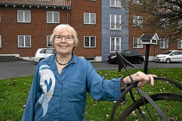 Laila Rødbro, aktivitetsansvarlig for Vestergården og medarrangør af sansemessen, er klar igen til næste år. Foto: Ole Iversen Ole Iversen