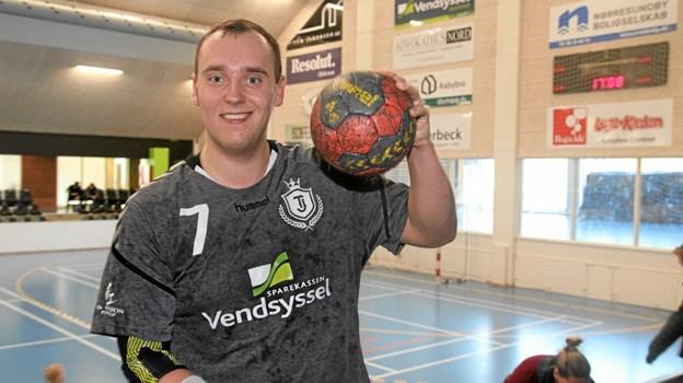 Kristian Jakobsen var Team Jammerbugts bedste spiller i opgøret, hvor han scorede 10 mål. Foto: Flemming Dahl Jensen