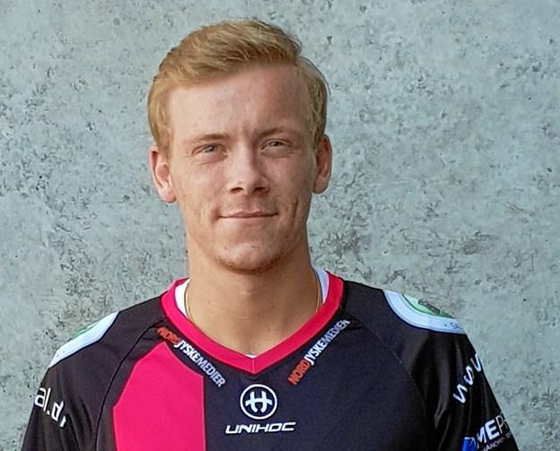 Anton Madsen har fået sin floorball-opdragelse i Brønderslev. Nu skifter han til Frederikshavn Blackhawks. Privatfoto