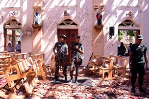 Tre danskere er dræbt i bombeangreb i Sri Lanka