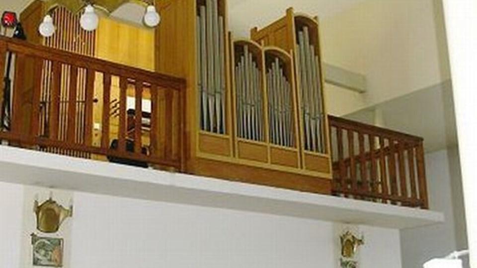 Det gamle orgel fra Hirtshals Kirke spiller nu i byen Bialystok, der ligger i Polen. Privatfoto