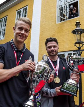 Aalborgs håndbold-helte hyldet: Stor guldfest på Gammeltorv