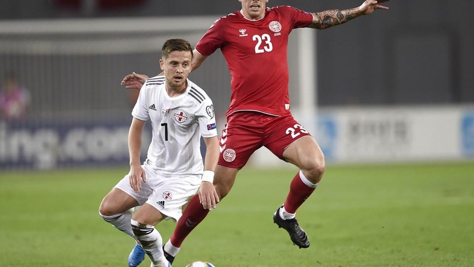 Pierre Emile Højbjerg og resten af det danske landshold spildte to gode EM-kvalifikationspoint i Georgien.
