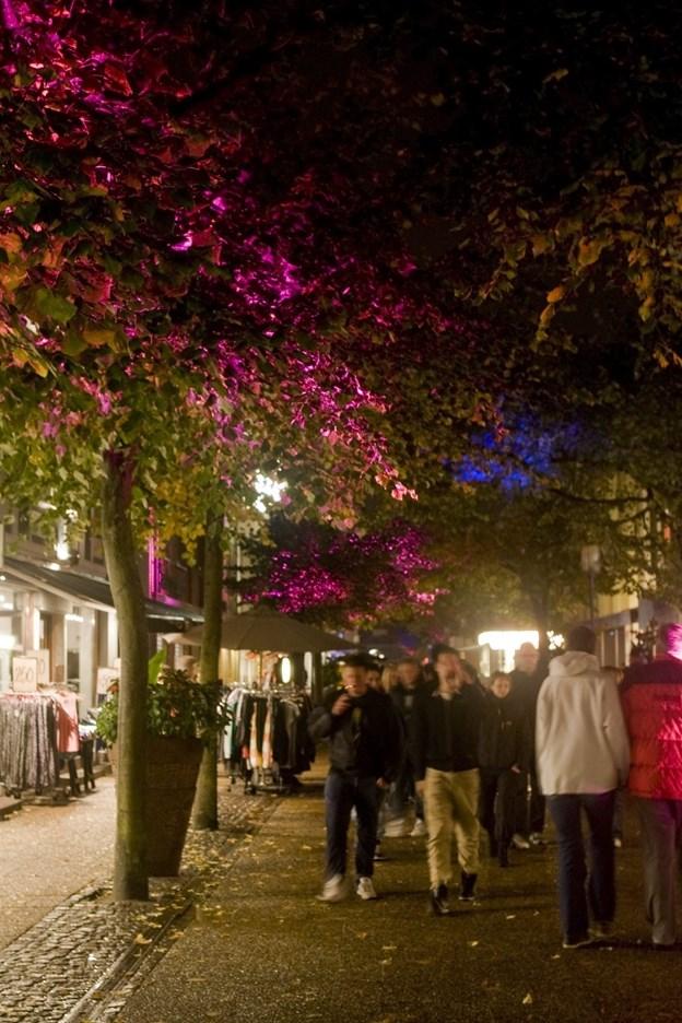 Lysfestivalen i oktober 2008 gav gågadens træer et helt nyt udseende Carl Th Poulsen