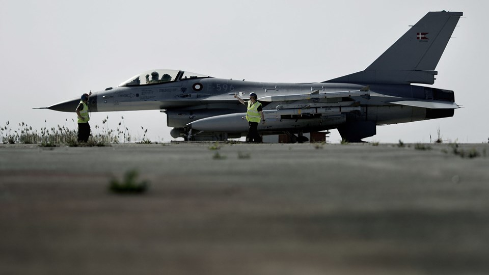 F16 kampfly, Jagerfly Foto: Scanpix/Christian Als