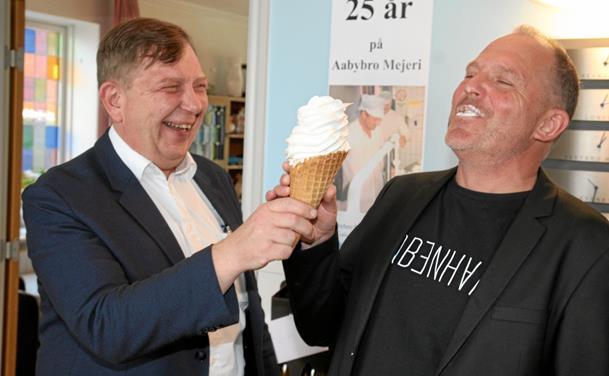 Ole blev fejret på Aabybro mejeri