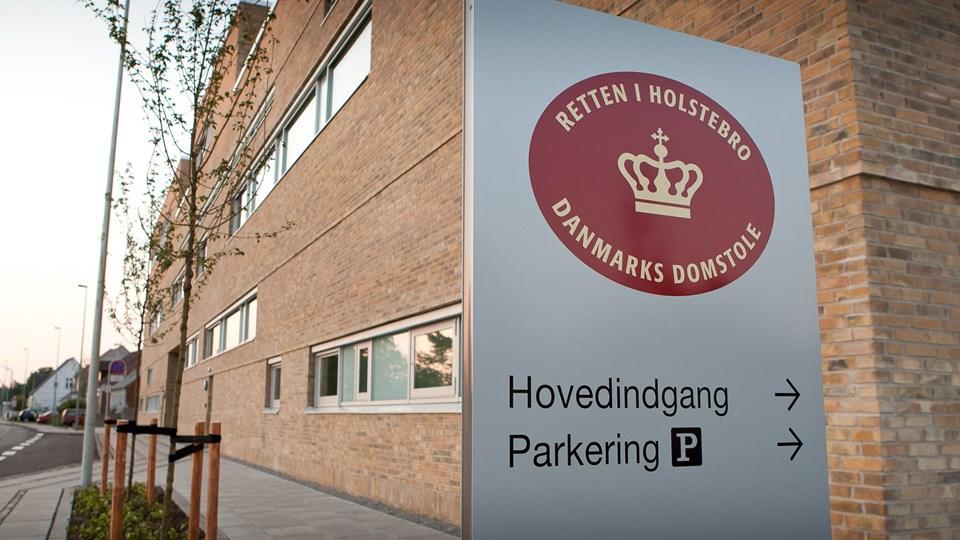 Retten i Holstebro har dømt en 42-årig morsingbo for vold, trusler på livet og vidnetrusler. Arkivfoto: Bo Lehm