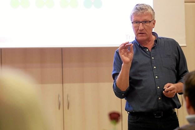 Jimmy Damgaard fra Conventus var oplægsholder på arrangementet i Hou Borgerhus. Foto: Allan Mortensen