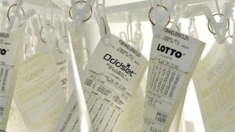 En dygtig og heldig oddset-spiller fra Brønderslev vandt onsdag 281.000 kroner ved at spille 100 korner på fem kampe. Arkivfoto