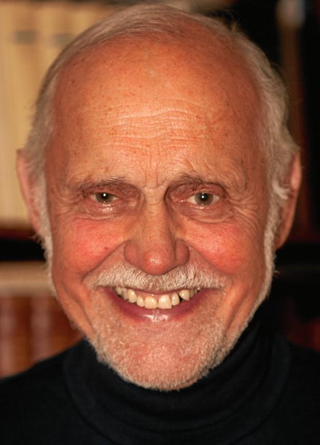 Stephen Egede Glahn holder foredrag i Tversted.   Privatfoto