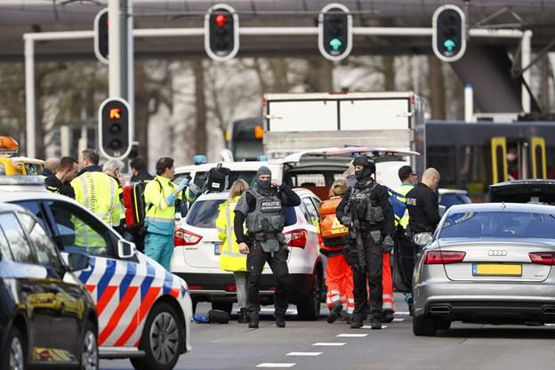 Tre personer er dræbt i skyderi i hollandske Utrecht