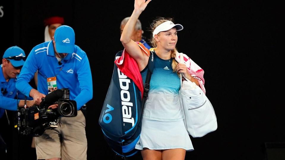 Caroline Wozniacki var senest på banen 18. januar, hvor hun tabte til Maria Sharapova i tredje runde i Australian Open.