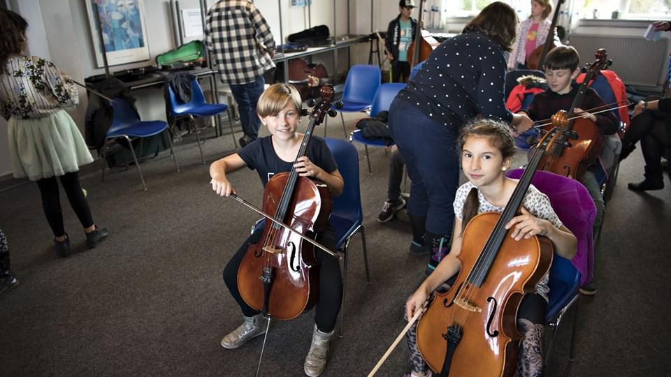 Skolegades Skole får et orkester. Arkivfoto: Kurt Bering