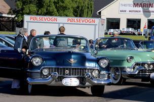 Fest for de gamle modeller: Masser af veteranbiler kørte rundt i Thy