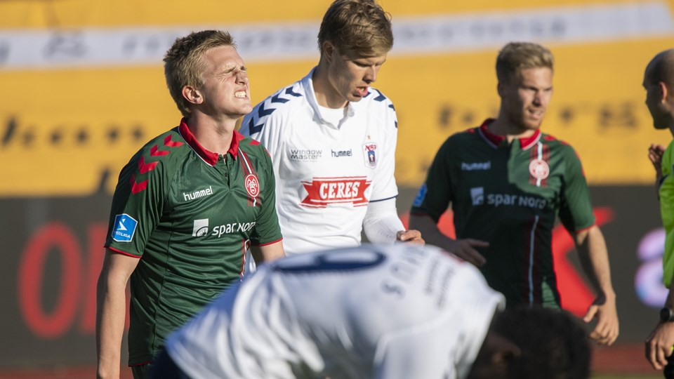 Mikkel Kaufmann er en af de unge spillere, der får chancen for at levere efter sommerferien, når mere erfarne kræfter forsvinder. Foto: Kim Dahl Hansen