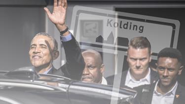 Om to uger siger Obama: Hello Aalborg - Men hvilke spor satte han, da han var i Kolding?