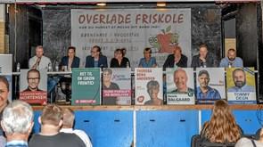 Politisk debat på friskolen i Overlade