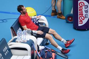 Udmattet Andy Murray faldt i søvn efter maratonsejr