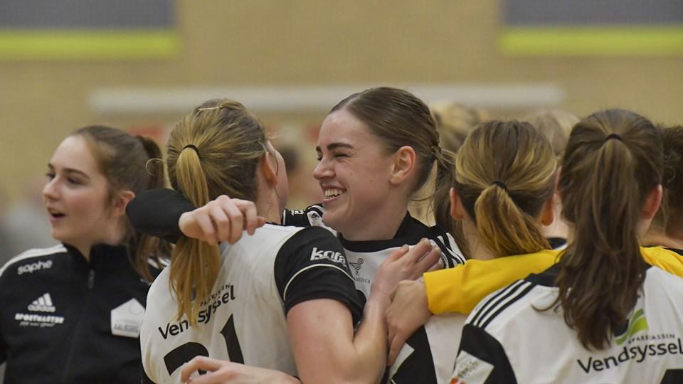 EH Aalborg-spillerne kunne juble trods nederlaget til Silkeborg-Voel. Foto: Jesper Thomasen