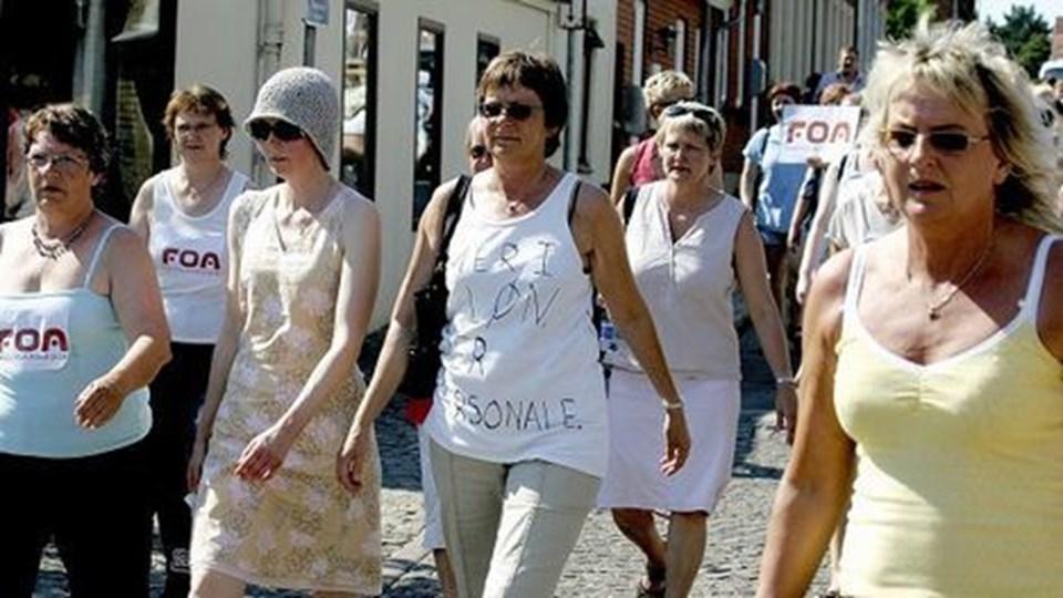 Mere i løn skal være et hovedkrav ved overenskomstfornyelsen i 2008, mener plejepersonalet i Thisted Kommune.Foto: Peter Mørk.