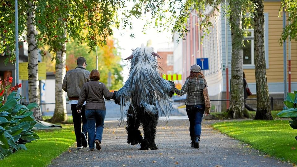 Teater Nordkraft afholder over hele efterårsferien børneteaterfestival, hvor børnene selv får mulighed for at være til at lave teater. Foto: Teater Nordkraft