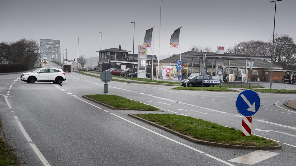 Vils Entreprenørforretning påbegynder mandag  arbejdet med den nye rundkørsel i Vilsund. Foto: Peter Mørk