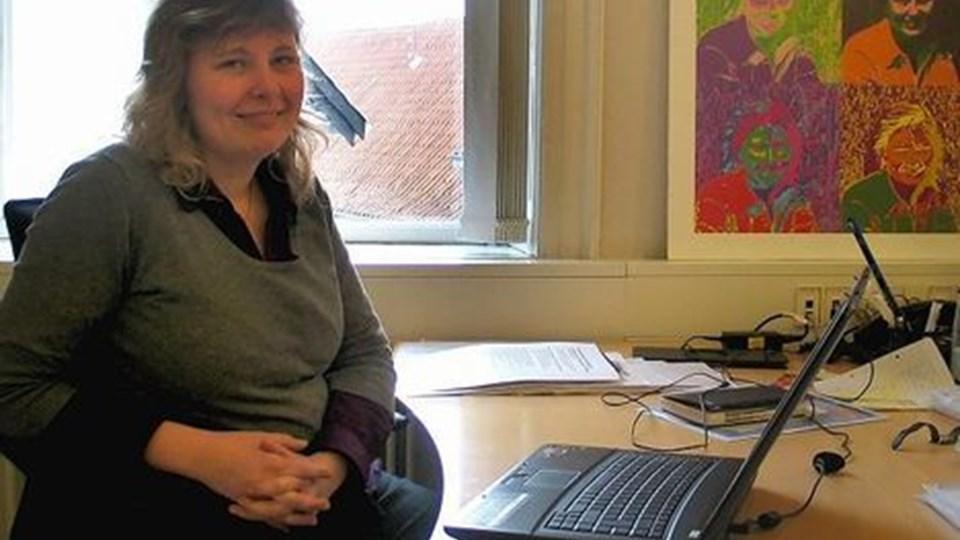 Jeanette Lund Kommunikation er en ny virksomhed i kommunikationsbranchen. Initiativet markerer, at Jeanette Lund har realiseret en gammel drøm om at blive selvstændig. Det er hun nu med udgangspunkt i et kontorfællesskab hos Grafisk Hus i Thisted. Foto: Jens Fogh-Andersen